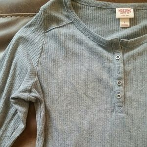 Comfy and cute button up thermal style shirt